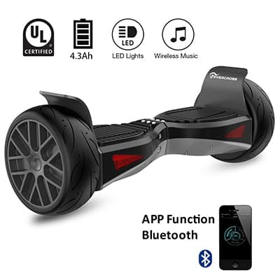 "8. Evercross Shadow Electric Self Balancing Scooter, All-Terrain 8.5"" Alloy Wheel"