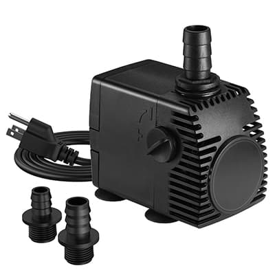 5. Homasy 320GPH 22W Submersible Pump, Ultra Quiet Fountain Water Pump, 1200L/H