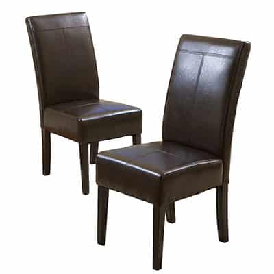 3. Best-Selling Chocolate Leather Dining Chairs