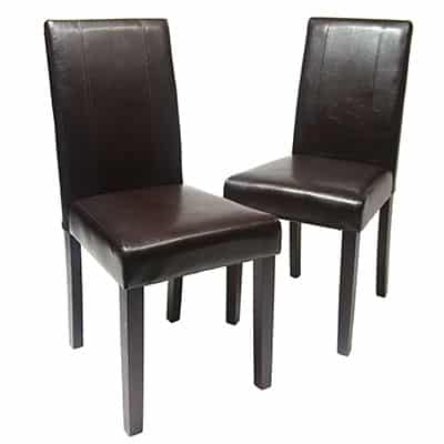 1. Roundhill Urban Style Leatherette Dining Chairs