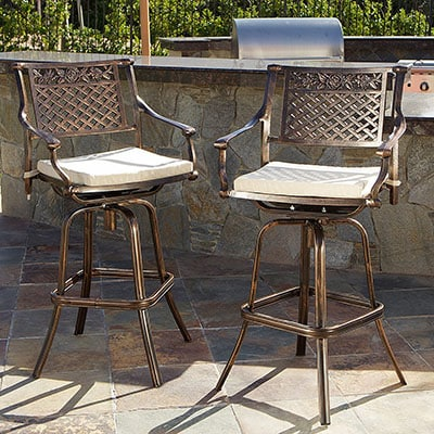 Awe Inspiring Top 10 Best Outdoor Barstools In 2019 Closeup Check Machost Co Dining Chair Design Ideas Machostcouk