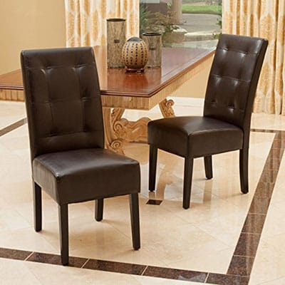 6. Great Deal Furniture Hynes Brown Dining Chairs