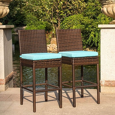 8. Sundale Outdoor All-Weather Barstools