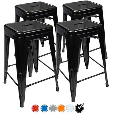 10. Urbanmod 24-Inch Counter Height Stools