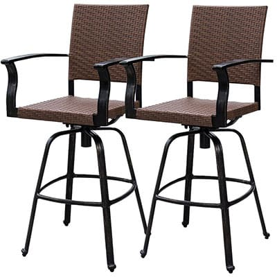 info for af4b5 f4482 Top 10 Best Outdoor Barstools in 2019 - Closeup Check