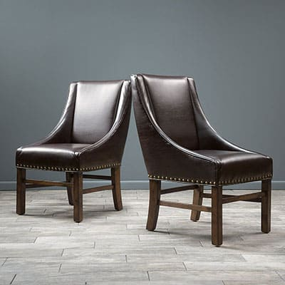 9. Great Deal Furniture Claudia Brown Chairs