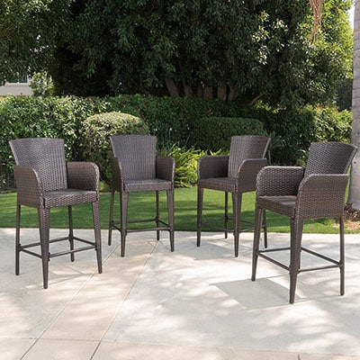 2. Great Deal Furniture Wicker Barstools