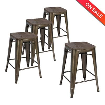 6. LCH 30-inch Backless Bar Stools