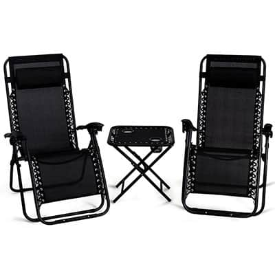 3. Giantex 3PCS Zero Gravity Patio Chair