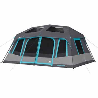 3. Ozark Trail 10-People Instant Cabin Tent