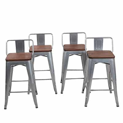 7. Changjie Furniture Backless Barstools