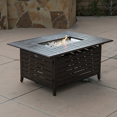 5. Belleze Outdoor Fire Pit Table