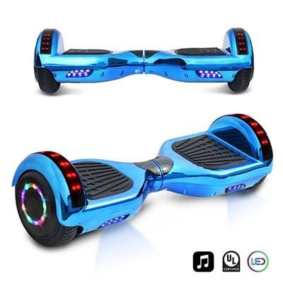 7. CHO 6.5-Inch Chrome Electric Hover Board