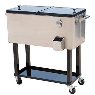 7. Outsunny Portable Patio Party Drink Cooler Cart