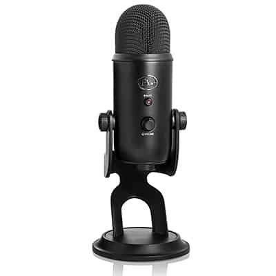 9. Blue Yeti Blackout Edition Microphone