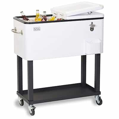 9. BLACK+DECKER BCC20W Mobile Cooler Cart