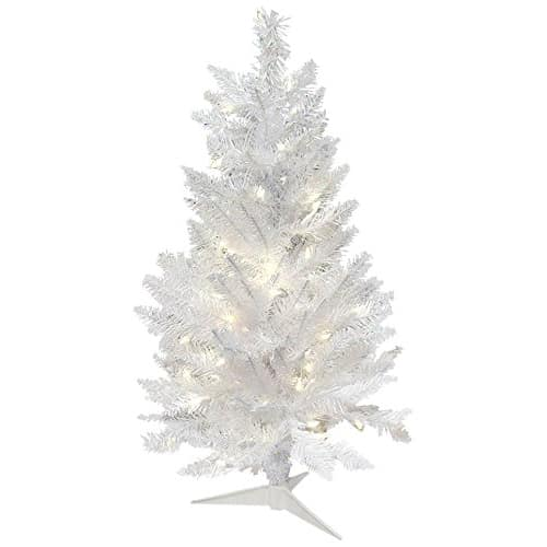 1. Vickerman 7.5' Artificial Christmas Tree Sparkle White Spruce with 550 Warm White LED Lights
