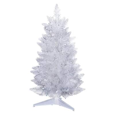 6. Vickerman Sparkle White 392 Tips Unlit Spruce Pencil Tree with, 6-Feet by 29-Inches