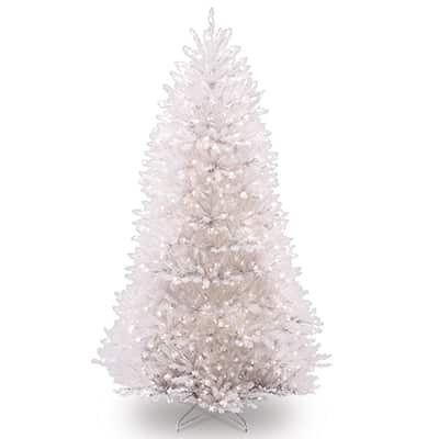 3. National Tree 7.5 Foot DUWH-75LO White Dunhill Fir Christmas Tree, Hinged