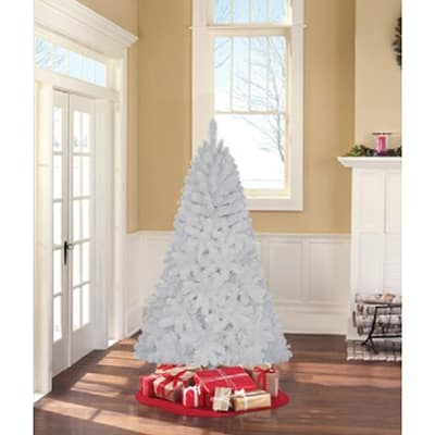 8. Holiday Time Unlit 6.5 Jackson Spruce Artificial Christmas Tree, White