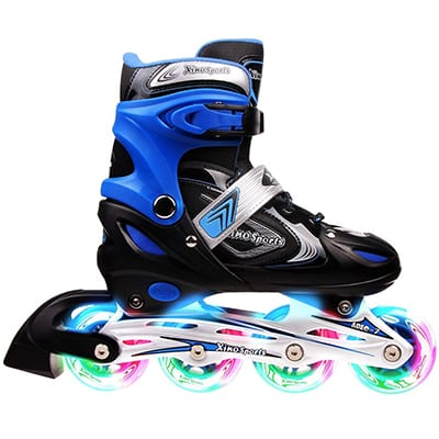 Roller Skates for Women Kids Men Girl Boys Inline Blades ABEC 9 Derby Adults rollerskates Outdoor Light Fitness Durable Reinforce Frame Ankle Support Blade Rollerskate Blue Green