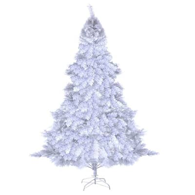 10. Goplus 6Feet Artificial PVC White Christmas Tree- Holiday Season Indoor Outdoor White