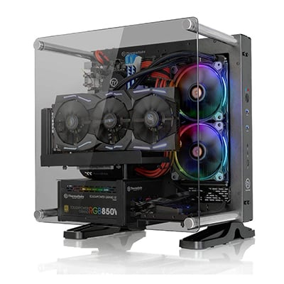 4. Thermaltake Core P1 PC Case Tempered Glass Edition