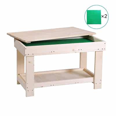 2. YouHi N in 1 Wooden Multi-Activity Lego Play Table