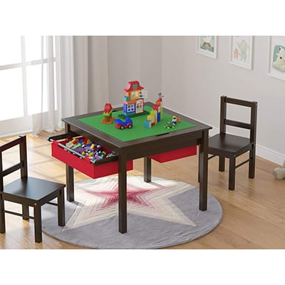 3. UTEX 2-in-1 Kids Multi Activity Lego Table