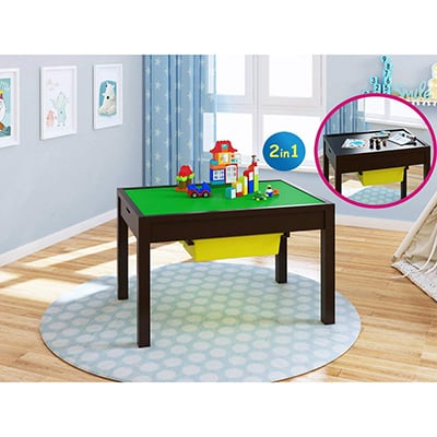 5. UTEX 2-in-1 Kid Activity Lego Table