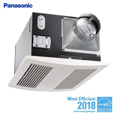 8. Panasonic FV-11VH2 Whisper Warm 110 CFM Ceiling -Mounted Fan