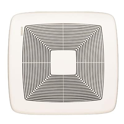 2. Broan QTXE080 Ultra-Silent Bath Fan, 80 CFM, White Grille