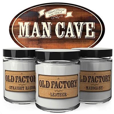 1. Old Factory Scented Candles Man Cave