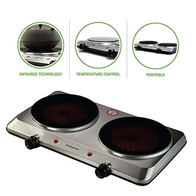 10. Ovente Countertop Infrared Burner