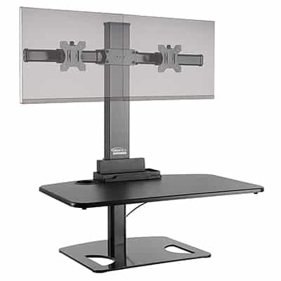 11. Ergotech Freedom Stand, Height Adjustable Dual Monitor Desk