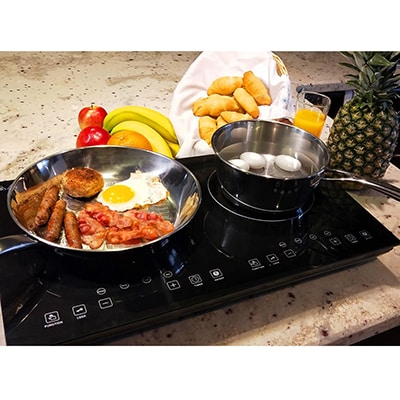6. Evergreen Dual Induction Cooktop