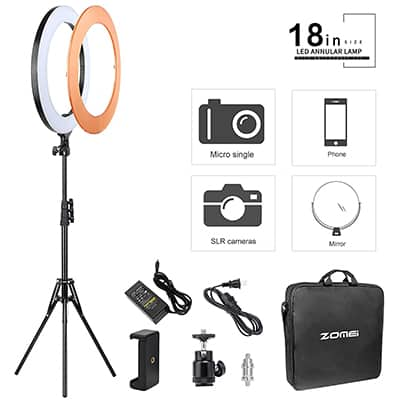 5. ZOMEI Ring Light with Stand