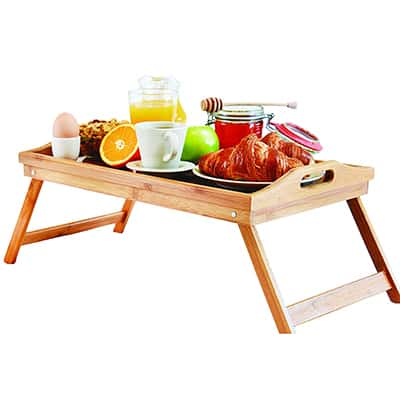 1.    Perfect Life Ideas Bed Lap Trays for Eating - Dinner Trays for Lap