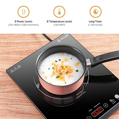 8. ISILER Portable Induction Cooktop