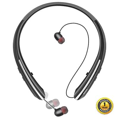 9. Junetech Bluetooth Headphones, Doltech Wireless Neckband Headset