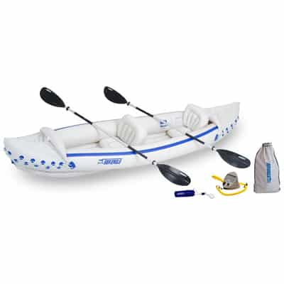 9. Sea Eagle SE370 Inflatable Sport-Kayak Deluxe Package