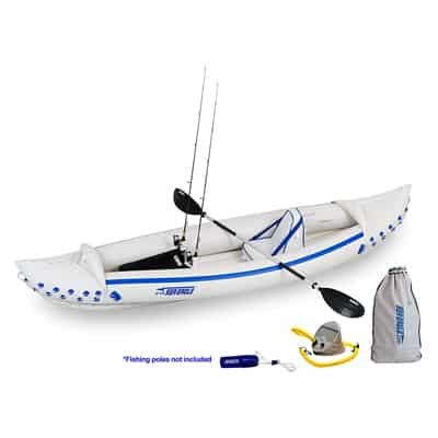 8. Sea Eagle SE370 Inflatable Sport-Kayak Fishing Package
