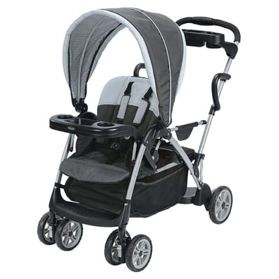 2. Graco Roomfor2 Click-Connect Stand and Ride Stroller, Gotham