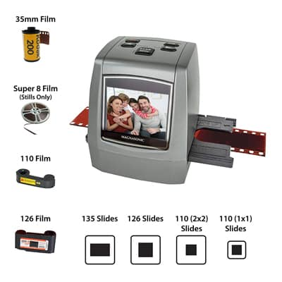 4. Magnasonic All-in-One High-Resolution 22-MP Film Scanner