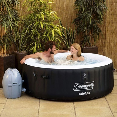 4. Coleman Inflatable 4-Person Hot Tub