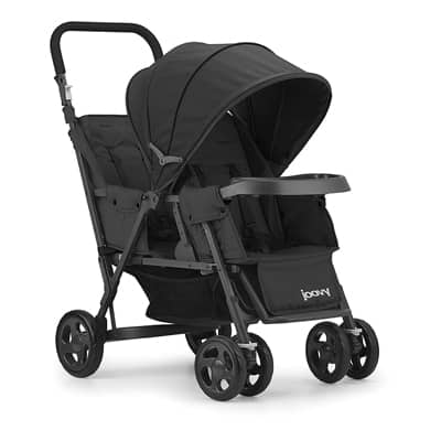 3. JOOVY Caboose Too Graphite Stand-On Tandem Stroller