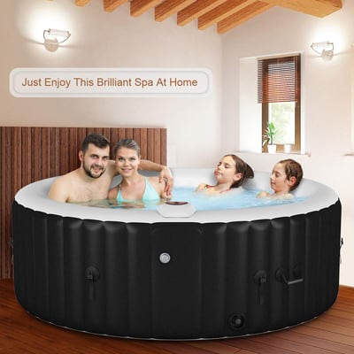 2. Goplus Outdoor Spa Inflatable Hot Tub