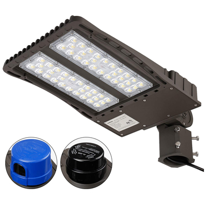 2. LEONLITE Ultra-Bright LED Parking Lot Light with Photocell, 150W