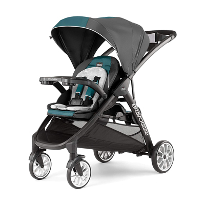 8. Chicco BravoFor2 LE Standing/Sitting Double-Stroller, Eucalyptus