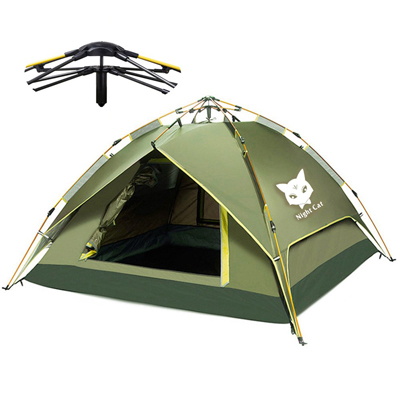 9. Night Cat Camping Tent Easy Instant Pop Up Tent